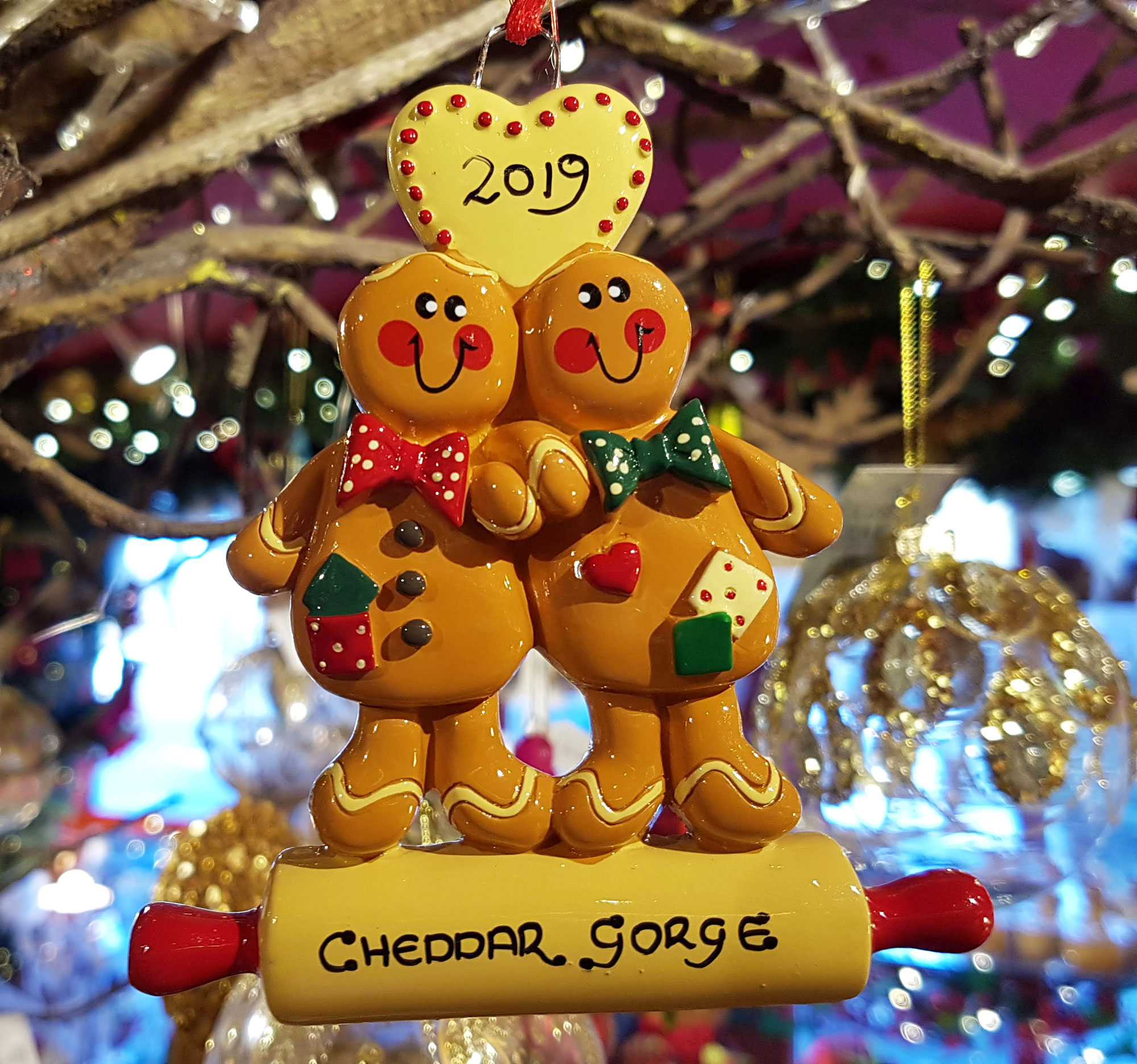 Cheddar Gorge Gingerbread Couple 2019 Hanging Decoration