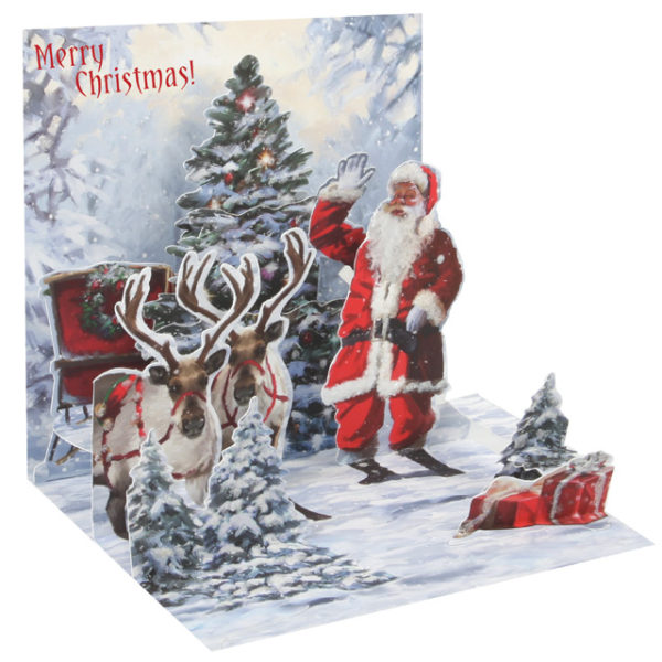 Jolly Santa Pop Up Greeting Card