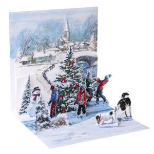 Village Skaters Pop Up Greeting Card