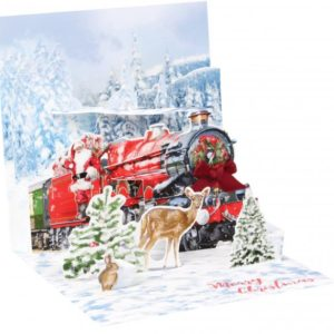 Santa's Express Pop Up Greeting Card