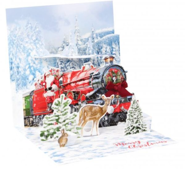 Santa's Express Pop Up Greeting Card