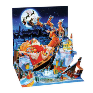 Santa's Sleigh Ride Pop Up Greeting Card