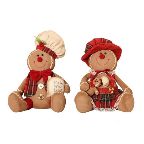MR & MRS Gingerbread Sitting