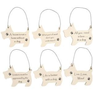 Mini dog shaped signs