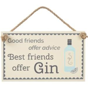 Best Friends Offer Gin - Hanging Sign