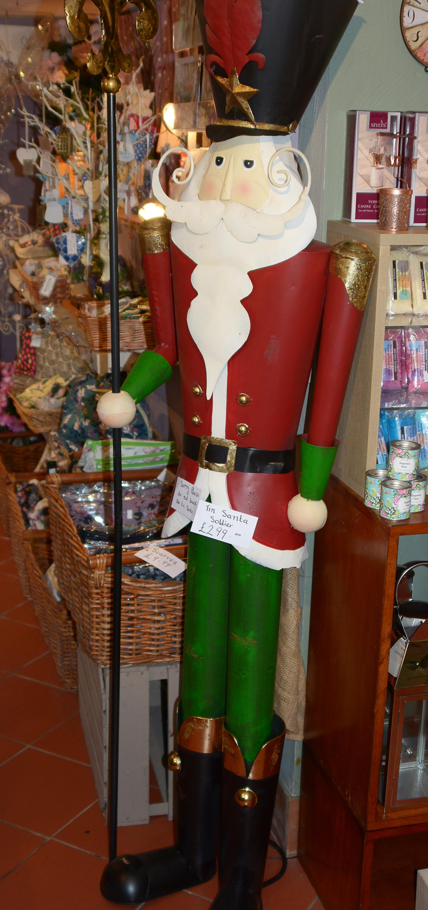 Tall metal Santa