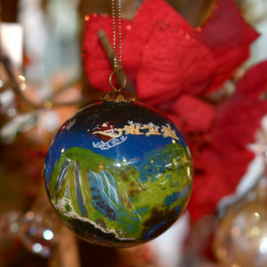 Cheddar Gorge Christmas Hand-painted Bauble