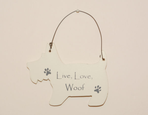 Mini Dog Signs - Live, love, woof