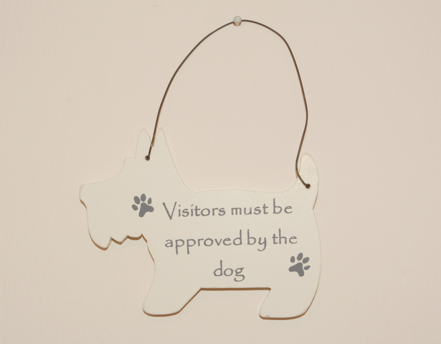 Mini Dog Signs - Visitors must be approved by the dog
