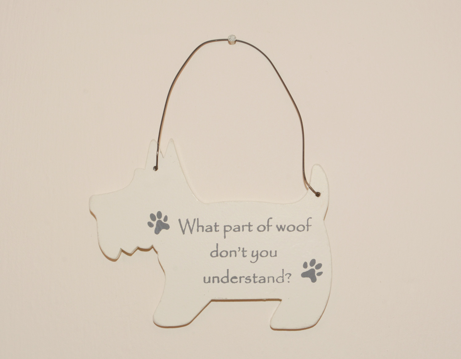 Mini Dog Signs - What part of woof don't you understand?