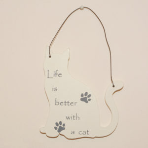Mini Cat Signs - Life is better with a cat