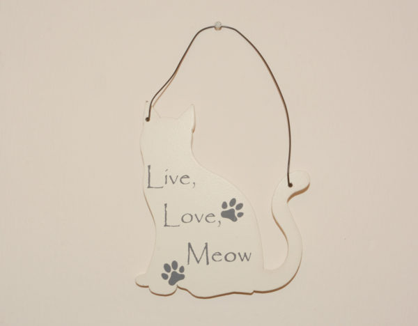 Mini Cat Signs - Live, love, meow