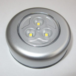 Warm white push button LED light