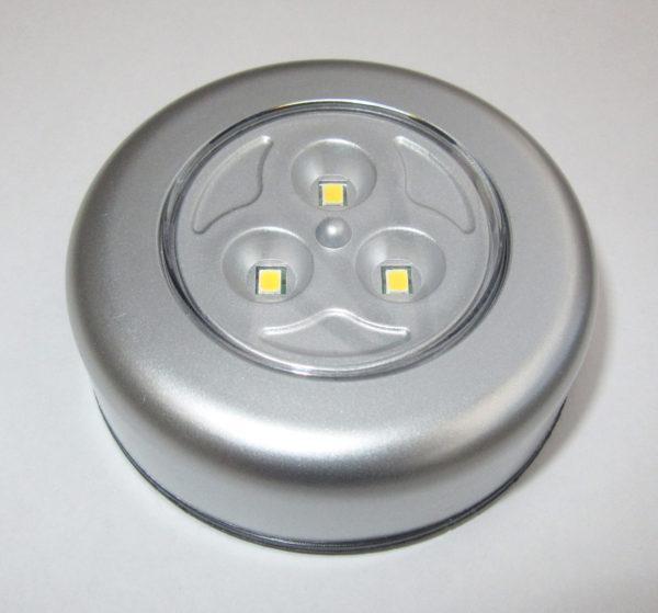 Warm white push button LED light