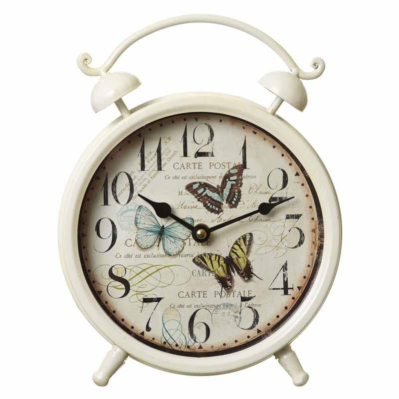 Metal Butterfly Clock
