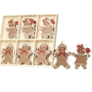 Hanging Mini Gingerbread Boy & Girl Set