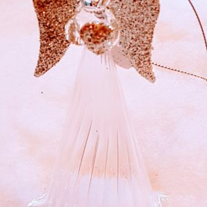 Tall glass angel