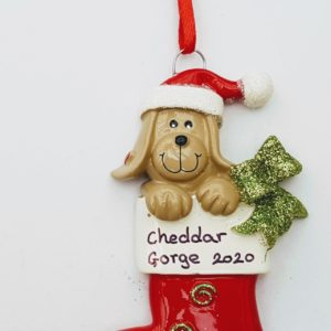 Cheddar Gorge dog stocking