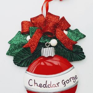 Cheddar Gorge red bauble