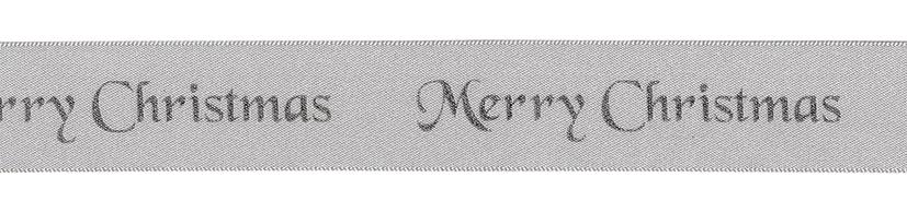 Merry Christmas Cake Ribbon 1m x 25mm