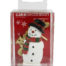 Snowman and Gold Merry Christmas Cake Topper