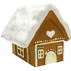 Mini Gingerbread House Cake Topper