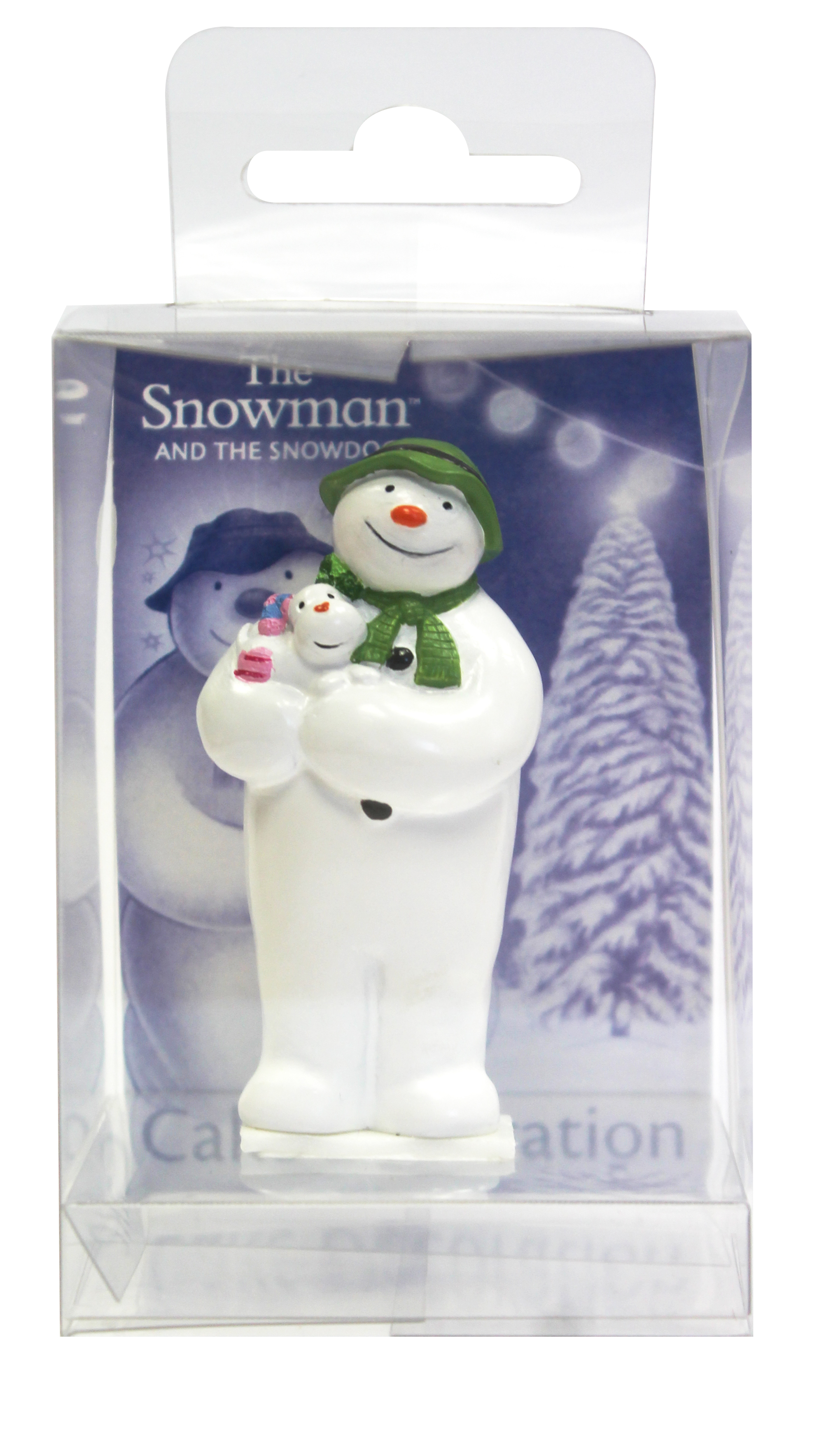 The Snowman holding The Snowdog Cake Topper