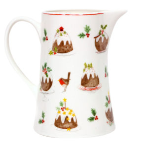 Bone china pudding jug med