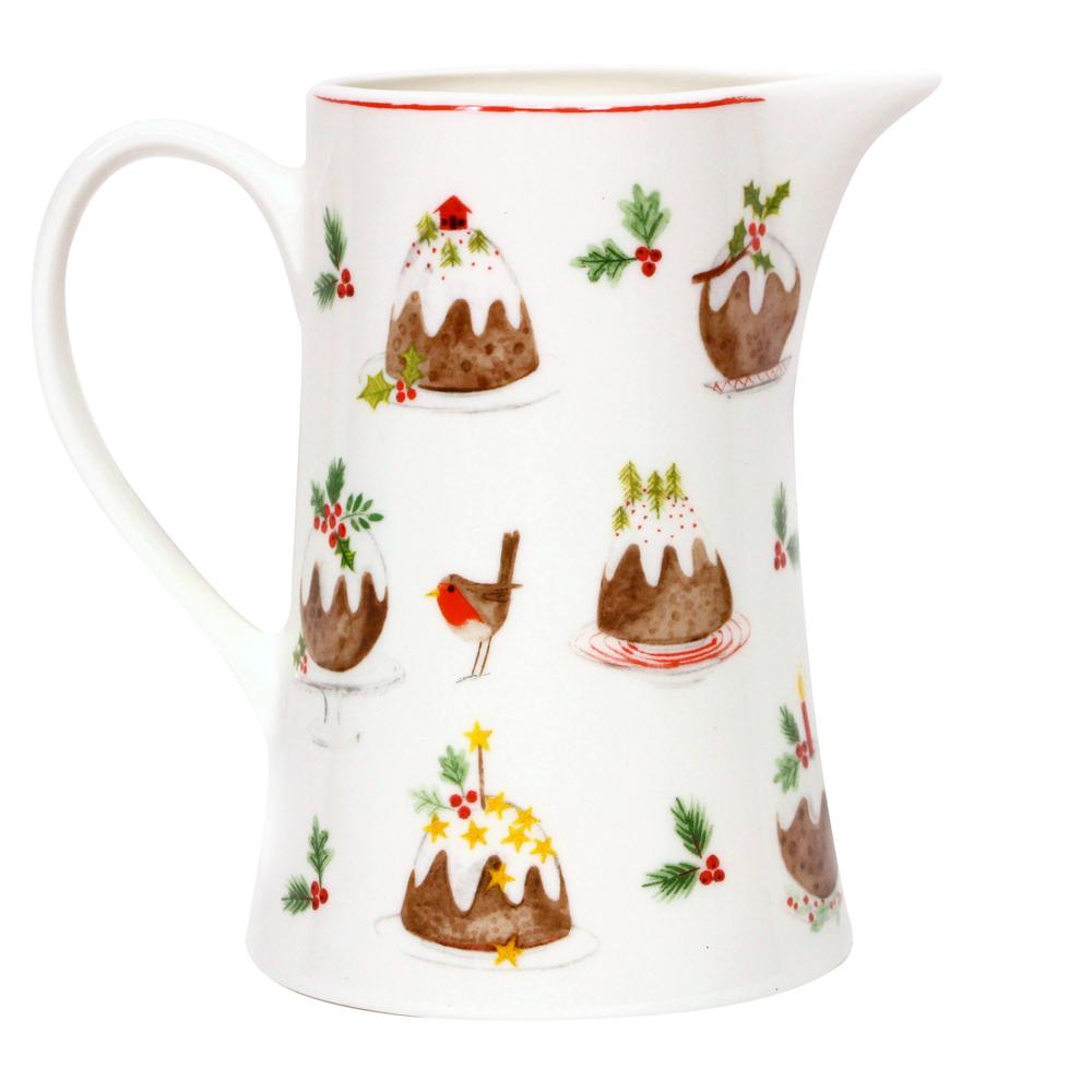 Bone china pudding jug med