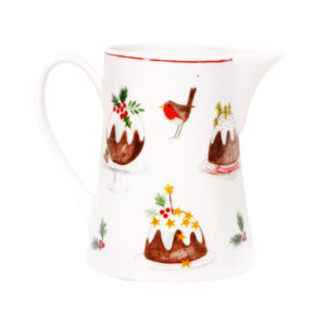 Bone china pudding jug small