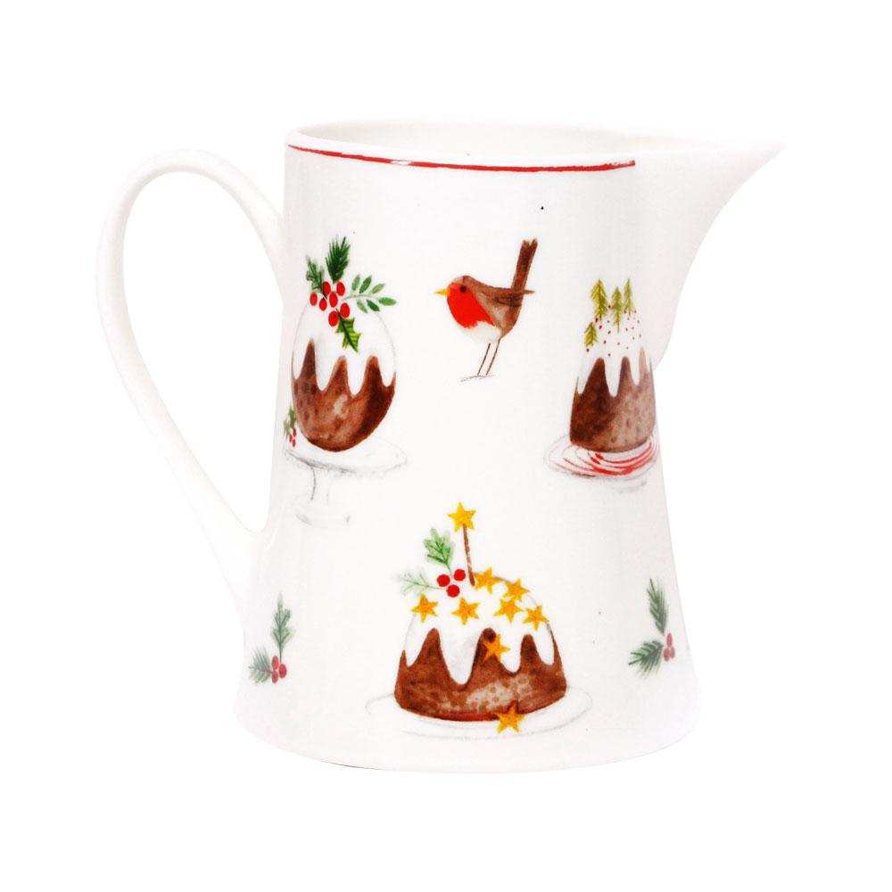 Bone china pudding jug small