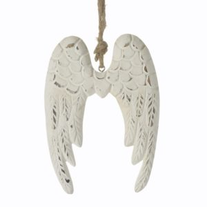 Wooden Angel Wing Hanging Decoration