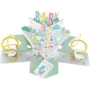 Baby Shower 3D Pop Up Card