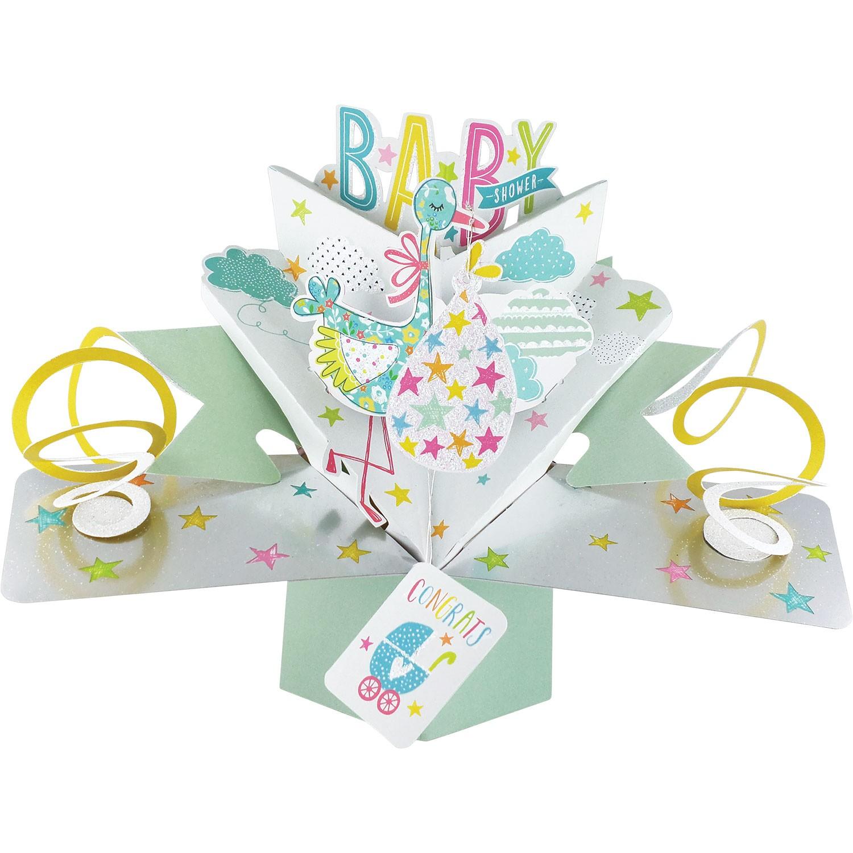 Baby Shower 3D Pop Up Card