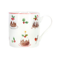 bone china pudding mug