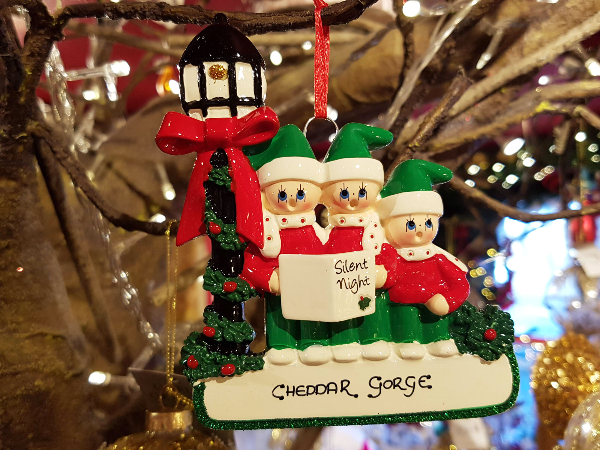 Cheddar Gorge Caroler Family of 3 Hanging Decoration