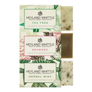 Heyland and Whittle 3x95g Deep Cleansing Trio Handmade Soap