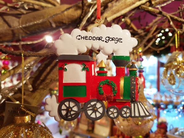 Cheddar Gorge Festive Train Hanging Decoration