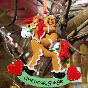 Cheddar Gorge Gingerbread Rocking Horse Hanging Decoration