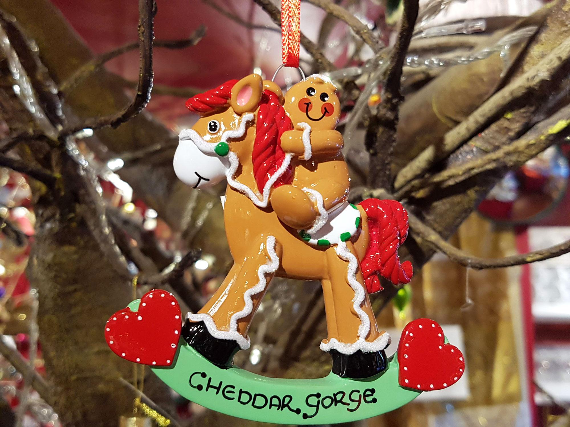 Cheddar Gorge Gingerbread Rocking Horse Hanging Decoration