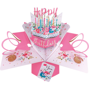 Happy Birthday To You Cake 3D Pop Up Card