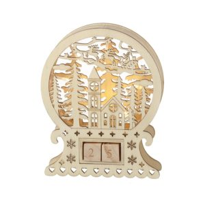 Countdown laser cut LED decoration