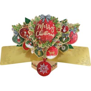 Merry Christmas Bauble 3D Pop Up Card