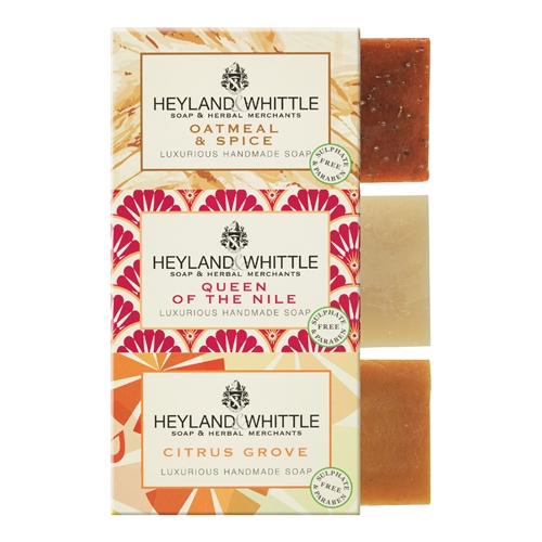 Heyland and Whittle 3x95g Nurturing Care Trio Handmade Soap
