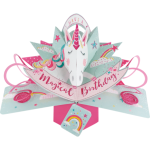 Birthday Unicorn 3D Pop Up Card