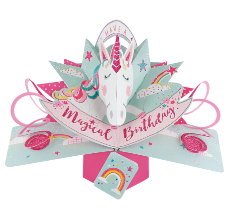 Birthday Unicorn 3D Pop Up Card