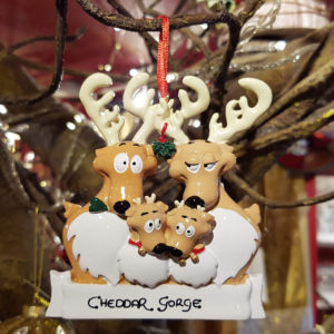 Cheddar Gorge Reindeer Family of 4 Hanging Decoration