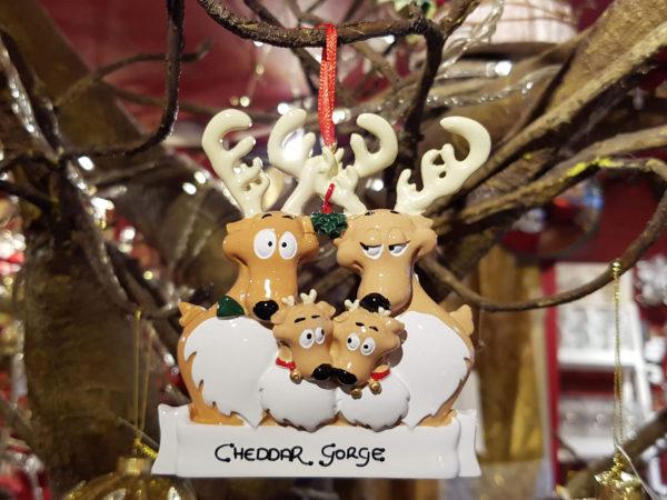 Cheddar Gorge Reindeer Family of 4 Hanging Decoration
