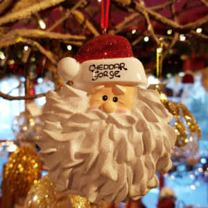 Cheddar Gorge Traditional Santa Face Hanging Decoration