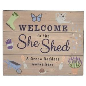 Welcome to the She Shed hanging sign